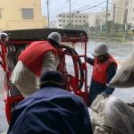 台風で近所の川が増水…消防団緊急出動。本日10月12日は15時で閉店します。