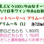 <ご予約受付開始>日本ワインの新酒「マンズ プリムール2020」の赤と白!